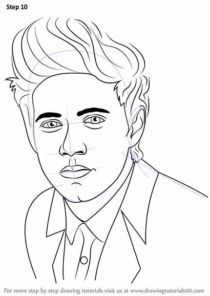 Niall Horan Draw Step Drawing Celebrities Tutorials