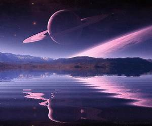 gif inspiration imagine space galaxy stars water mountains ...