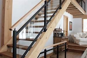 delicieux rampe escalier bois interieur 5 escaliers et With rampe escalier bois interieur