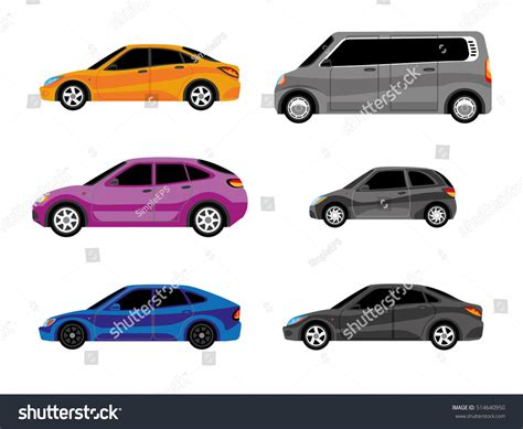 Design Cars Different Types Body Painting Stock Vector