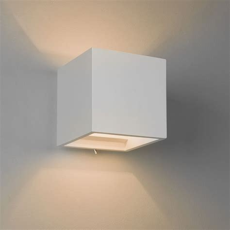 astro pienza 140 switched plaster wall light at uk