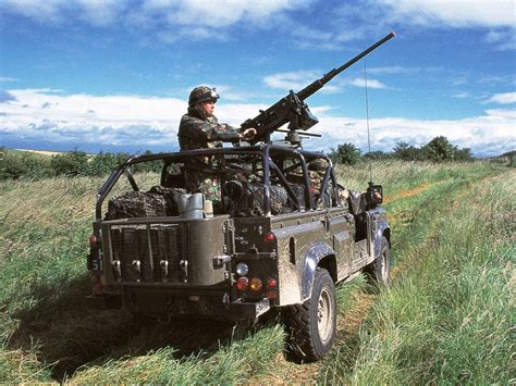 navy land mg armed land rovers