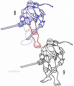 How To Draw A Ninja Turtle Step By Step Pictures