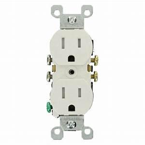 Leviton 15 Amp Tamper-resistant Duplex Outlet  White  10-pack -m22-t5320-wmp