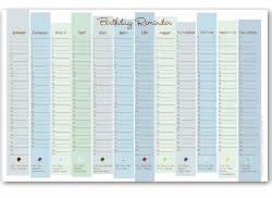 best photos of birthday reminder calendar printable With birthday reminder calendar template