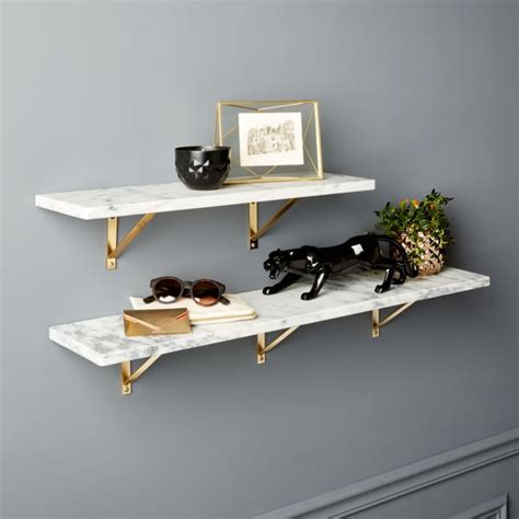 Individual Wall Shelves by Marble Wall Mounted Shelves Cb2