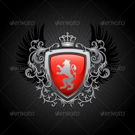 coat  arms template     psd eps