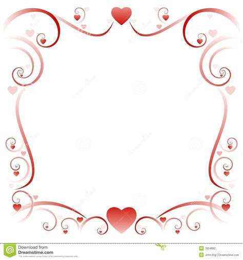cadre 01 d amour de swirly photographie stock image 7604892