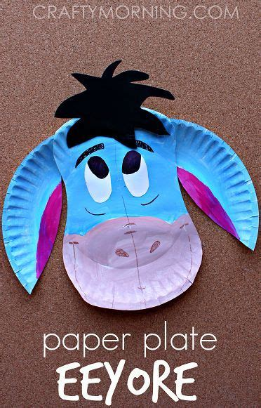 paper plate eeyore donkey craft  kids disney crafts  kids arts  crafts  kids