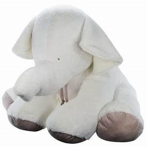 Peluche Geante Elephant : peluche gante mon tout petit elephant cru 80 cm ~ Teatrodelosmanantiales.com Idées de Décoration
