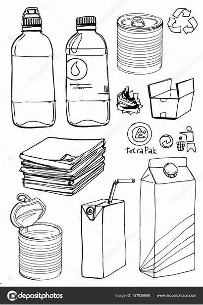 Materials Sketch Recyclable Illustration Depositphotos Gmail