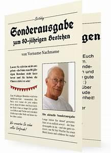 Zeitung Selbst Gestalten : witzige vorlage einladung zum 80 ~ Fotosdekora.club Haus und Dekorationen