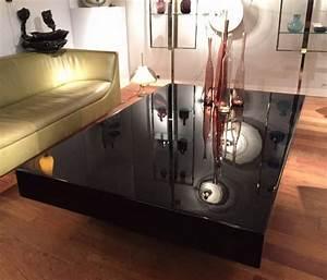 Table Basse Grande : grande table basse ann es 70 laqu e noir ~ Teatrodelosmanantiales.com Idées de Décoration