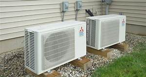 The Two Mitsubishi Ductless Minisplit Units Used At This