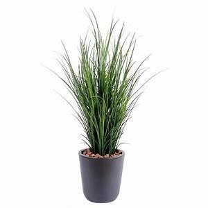 Plante D Extérieur En Pot : herbe fine artificielle en pot de 60 cm de hauteur ~ Teatrodelosmanantiales.com Idées de Décoration