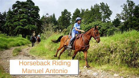 horseback manuel antonio riding rica costa