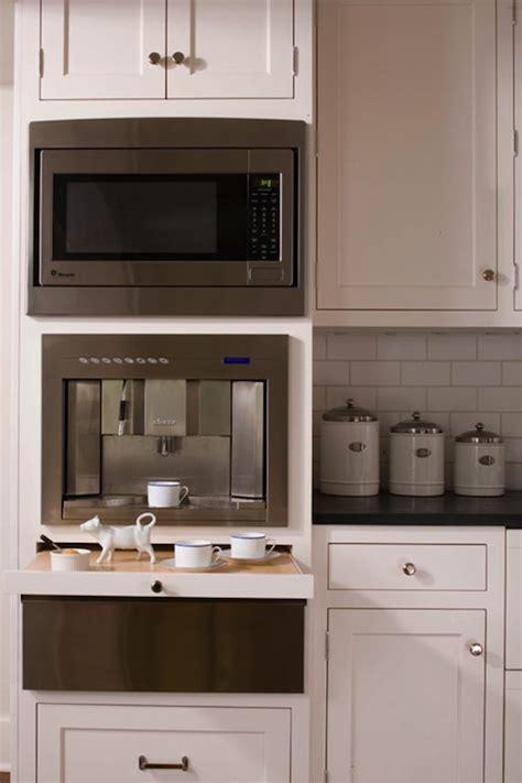built  coffee machine traditional kitchen caden design group