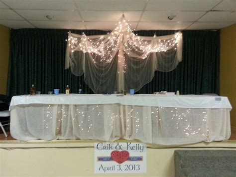 Diy Wedding Head Table. Above, Mosquito Netting, Holding