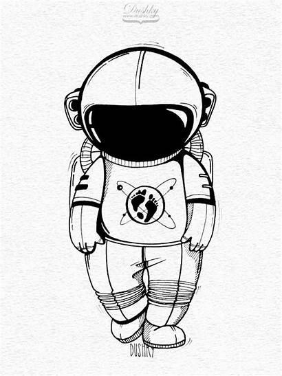 Astronaut Drawing Helmet Clipartmag
