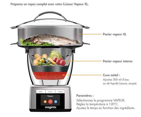 Cuiseur Vapeur Magimix Pr 233 Sentation Du Cuiseur Vapeur Xl Pour Robot Cook Expert De Magimix