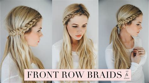 front braid hairstyle tutorial tutorial front row braid youtube