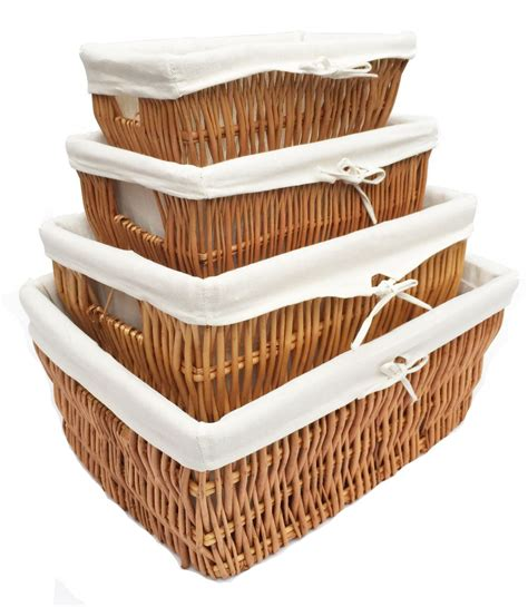 wicker kitchen storage baskets large big wider wicker her basket kitchen storage 1521