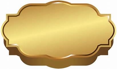 Label Clip Template Golden Clipart Labels Transparent