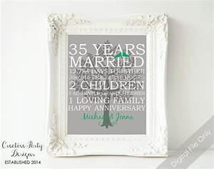 35th wedding anniversary gift 35th anniversary print With 35th wedding anniversary gift