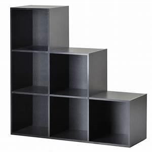 Etagere 6 Cases : tag re escalier 6 cases noir achat vente petit meuble rangement tag re escalier 6 cases ~ Teatrodelosmanantiales.com Idées de Décoration