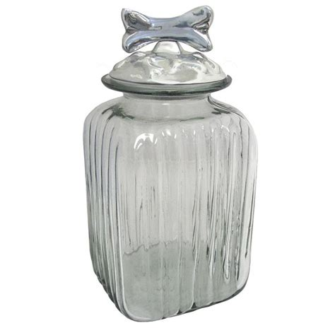 clear glass canisters for kitchen blown glass canisters collection dog bone kitchen canister gkc012