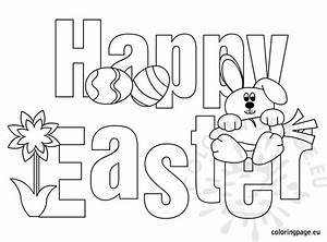 Happy Easter - Free Printable | Coloring Page