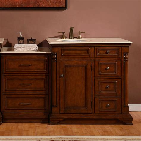 Single Sink Bathroom Vanity Cabinets by Silkroad Exclusive 59 Quot Single Sink Cabinet Bathroom Vanity