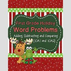 First Grade Math {frog Math} Holiday Word Problems  First Grade, Word Problems And Words