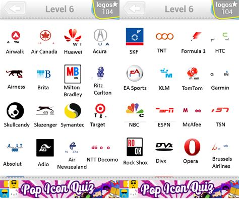 Logo Quiz Level 6 Answers By Bubble Quiz Games Answers