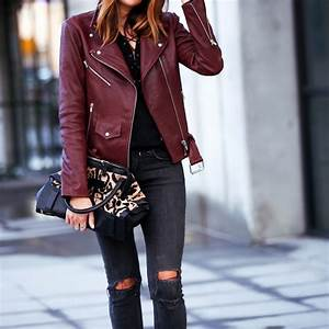Leather Weather Bordeaux and Black | FASHIONED|CHIC