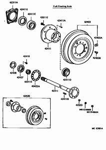 Rear Axle Shaft  U0026 Hub For 1987