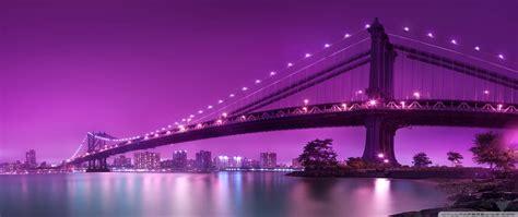 Bridge, Purple Light 4k Hd Desktop Wallpaper For 4k Ultra