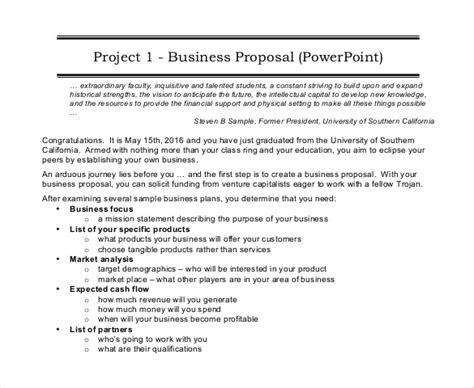 46+ Project Proposal Templates