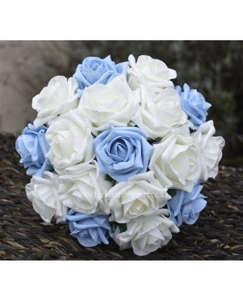light blue rose bridesmaid bouquet small bridal posy
