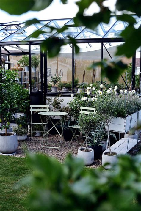 pretty greenhouses  outdoor furniture homemydesign