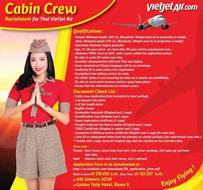 Air Cabin Crew Recruitment Fly Gosh Thai Vietjet Air Cabin Crew Recruitment Walk
