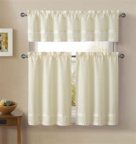essential home window panels valance striped home