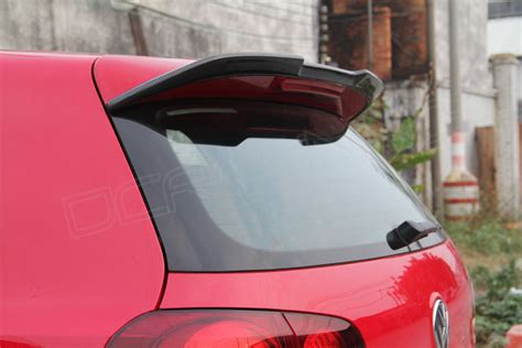 volkswagen golf gti  carbon fiber rear spoiler