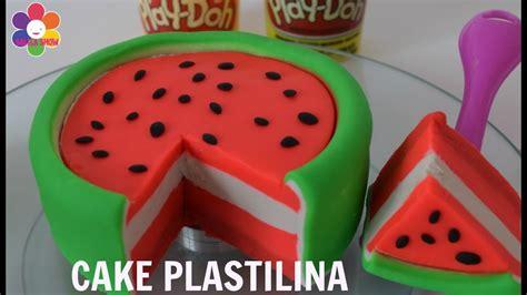 play doh pastel sandia en plastilina watermelon cake
