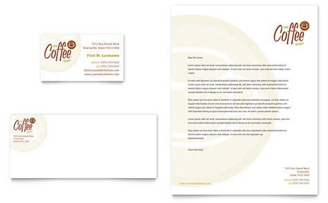 coffee shop business card letterhead template design