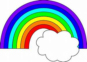 Rainbow With One Cloud Clip Art at Clker.com - vector clip ...