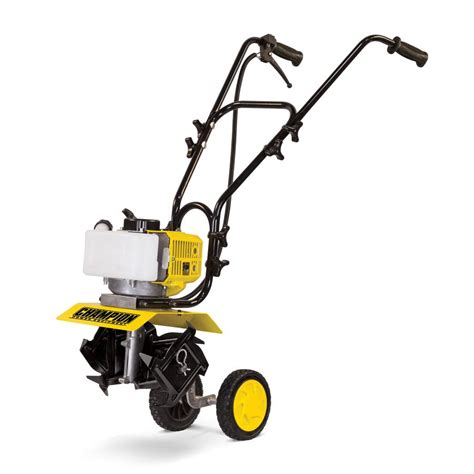 garden tillers at lowes shop chion power equipment 43 cu cm 2 cycle 11 in gas