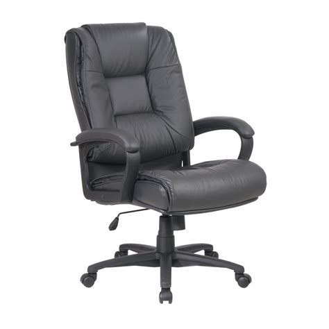 shop office one worksmart grey leather executive