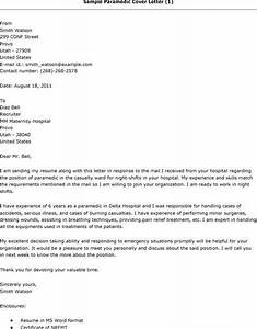 paramedic cover letter sample With paramedic cover letter examples