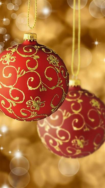 Christmas Balls Gold Tree Decorations Android Iphone